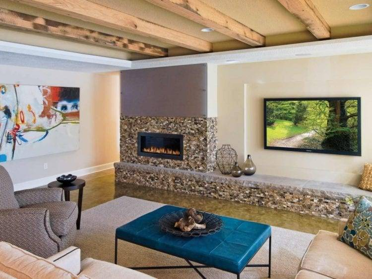 Можно ли вешать телевизор над камином: требования к конструкции