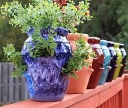 Цветочные горшки из цемента своими руками, фото