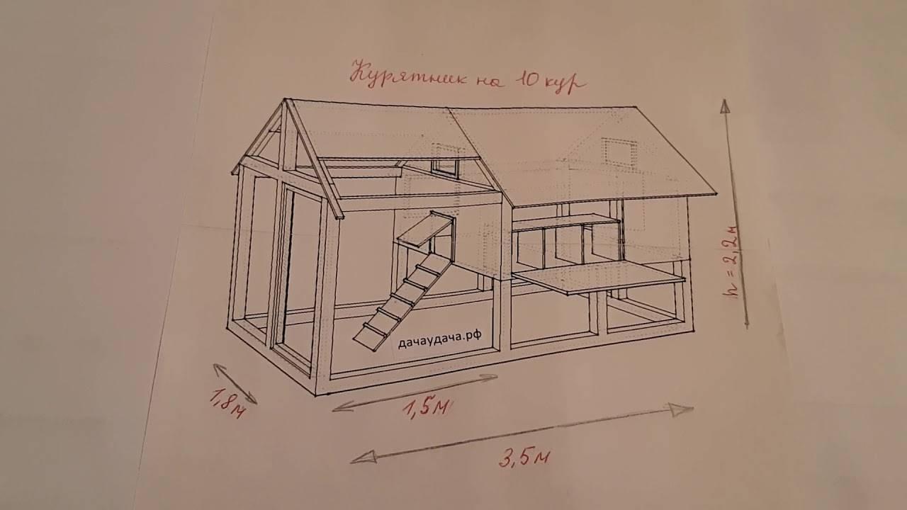 Пошаговая инструкция по изготовлению курятника на 5 куриц с чертежами, фото и видео