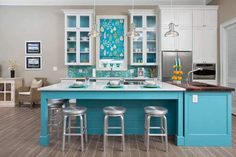 Яркая кухня - свежие фото советы как сделать кухню яркой