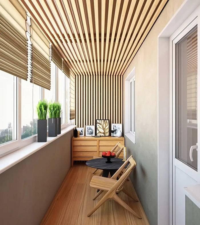 100 лучших идей дизайна 2019: отделка балкона внутри на фото