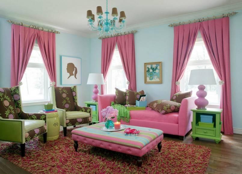 Сладкие розовые шторы: 45+ фото вариантов оформления - арт интерьер