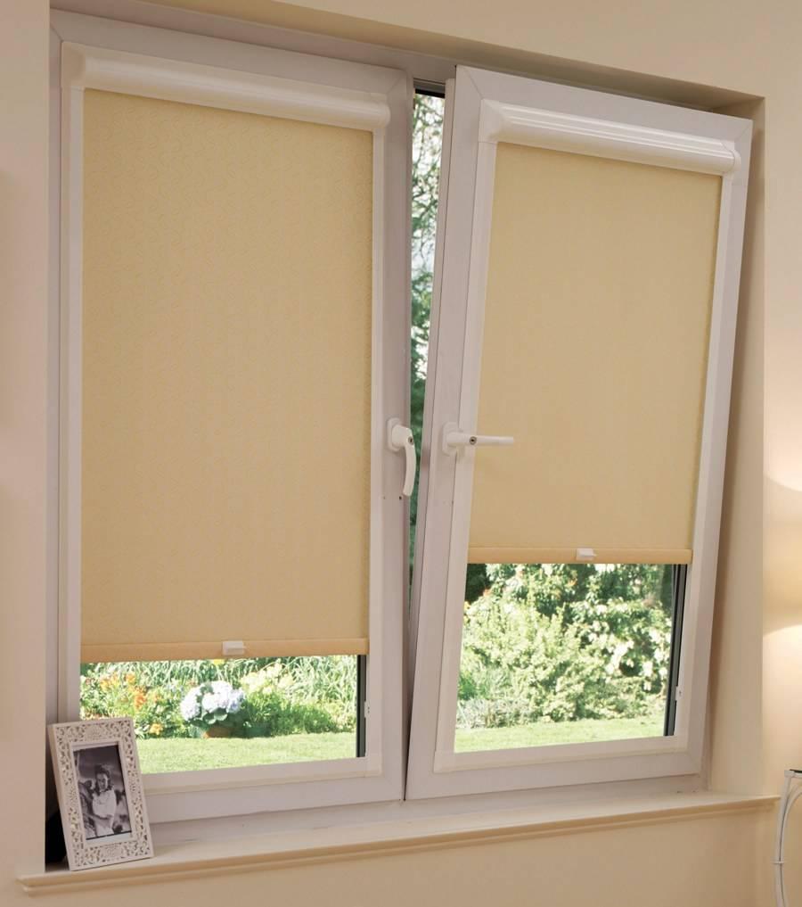 Простой способ установки рулонных штор на пластиковые окна