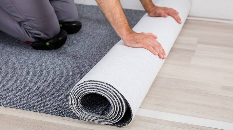 Технология укладки ковролина: на бетонный пол, на клей, на скотч