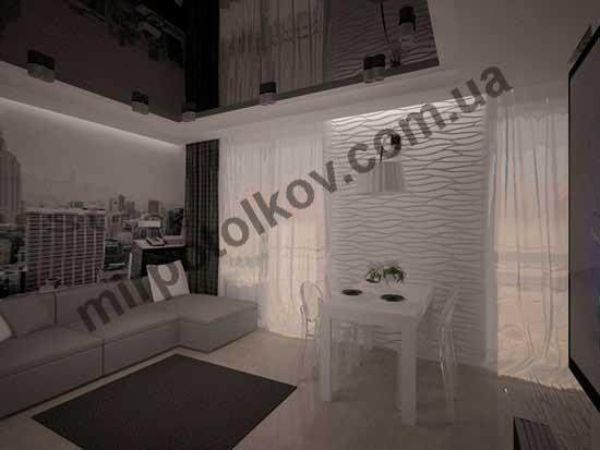Белый матовый натяжной потолок - универсальное решение в интерьере, фото вариантов применения