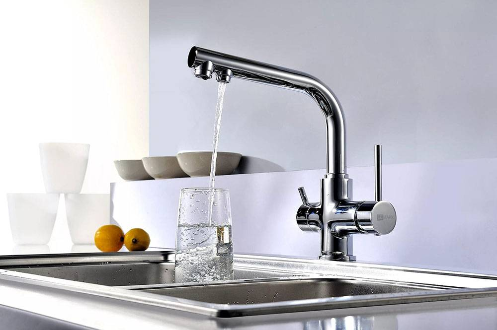 Смесители для кухни с краном для питьевой воды, с фильтром