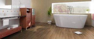 Линолеум для стен в ванной: советы по выбору и монтажу