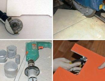 Как резать керамическую плитку стеклорезом ручным?