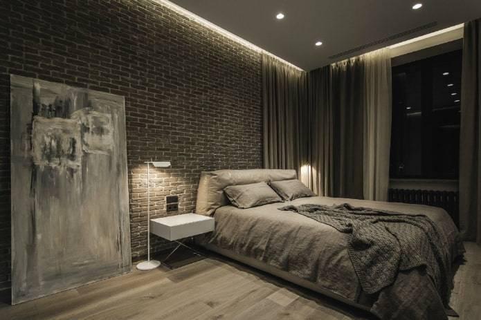 Спальня в стиле лофт (120 фото): дизайн интерьера маленькой комнаты, белые шторы и мебель, идеи оформления спальни-гостиной для девушки