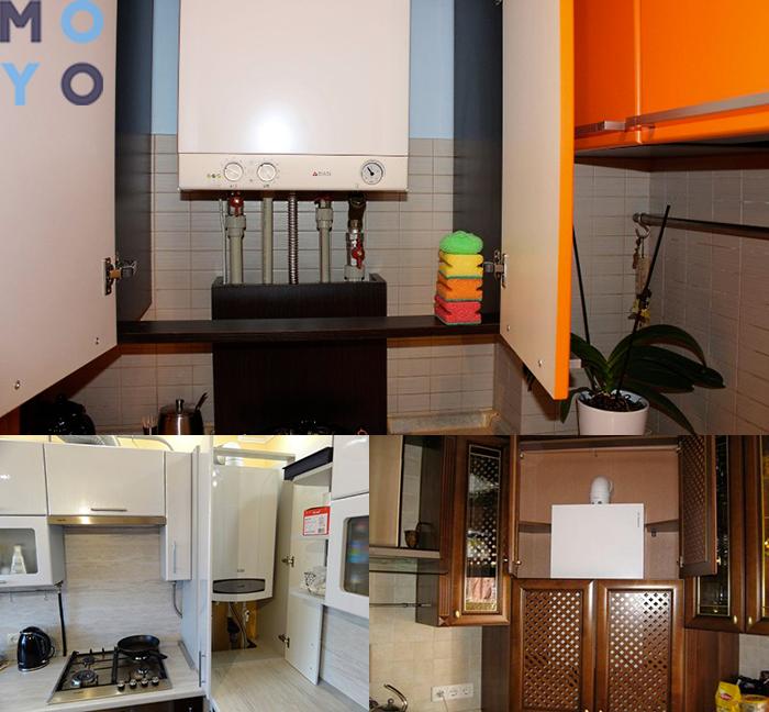 Решаем проблему маленькой кухни: как удачно вписать холодильник и газовую колонку в дизайн