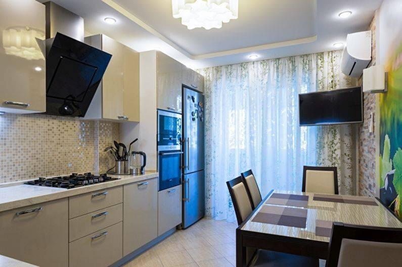 Ремонт и дизайн угловой кухни 11 кв. м (46 фото)
