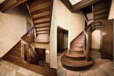 Отделка деревом бетонной лестницы: технологии устройства и материалы