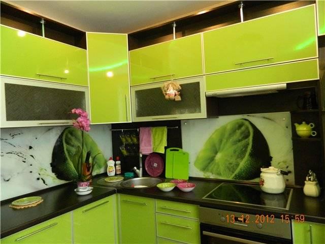 Яркая кухня цвета лайм: особенности дизайна