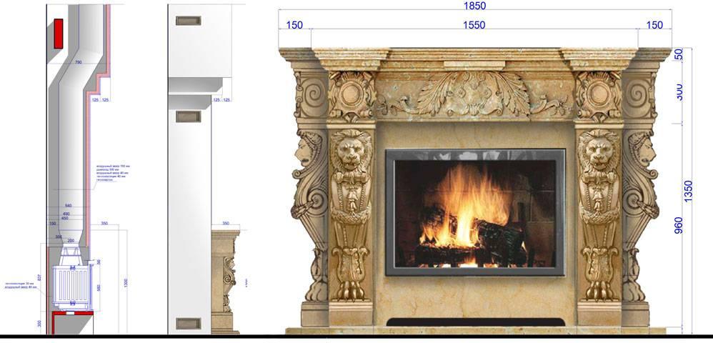 Самые завораживающие варианты облицовки камина - 90 фото в интерьере