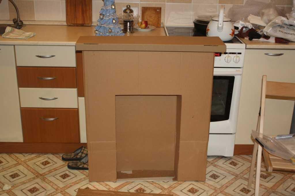 Камин из коробок: картонный своими руками, новогодний декор ка сделать, мастер-класс и фото фальшь-каминов камин из коробок: большая мечта простыми способами – дизайн интерьера и ремонт квартиры своими руками