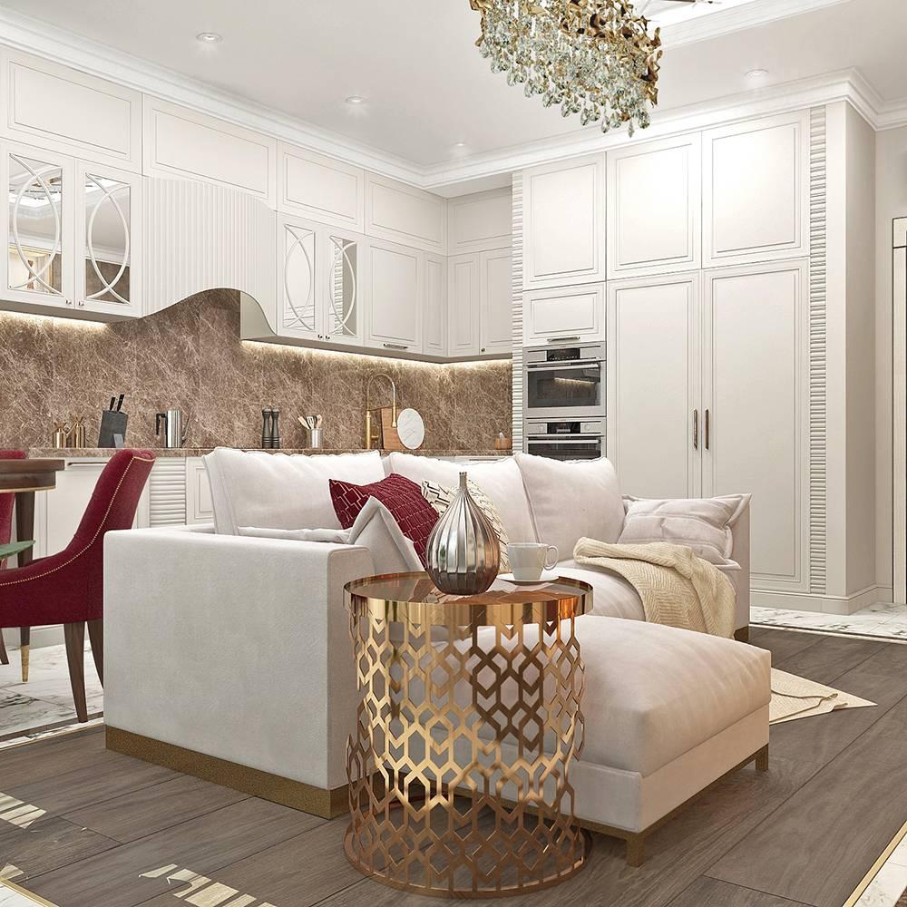 Кухня столовая гостиная: планировка, фото, зонирование, виды перегородок