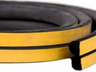 Самоклеющийся уплотнитель для дверей: межкомнатных и металлических, резиновый и силиконовый профиль