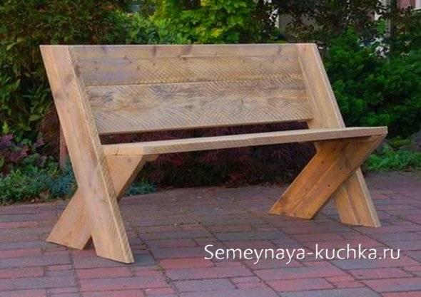 Как сделать деревянную лавочку или скамейку своими силами?