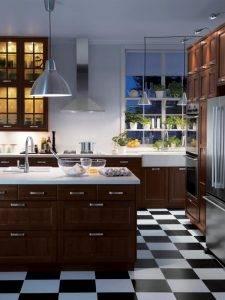 Пол на кухне: 100 фото красивых примеров в интерьере