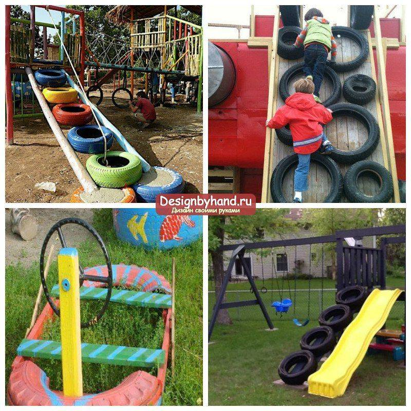 Детская площадка для дачи своими руками: обзор возможных вариантов