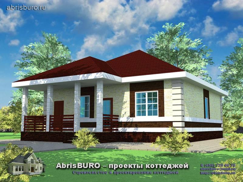 Фасады одноэтажных домов, виды фасадов, фото одноэтажных домов
