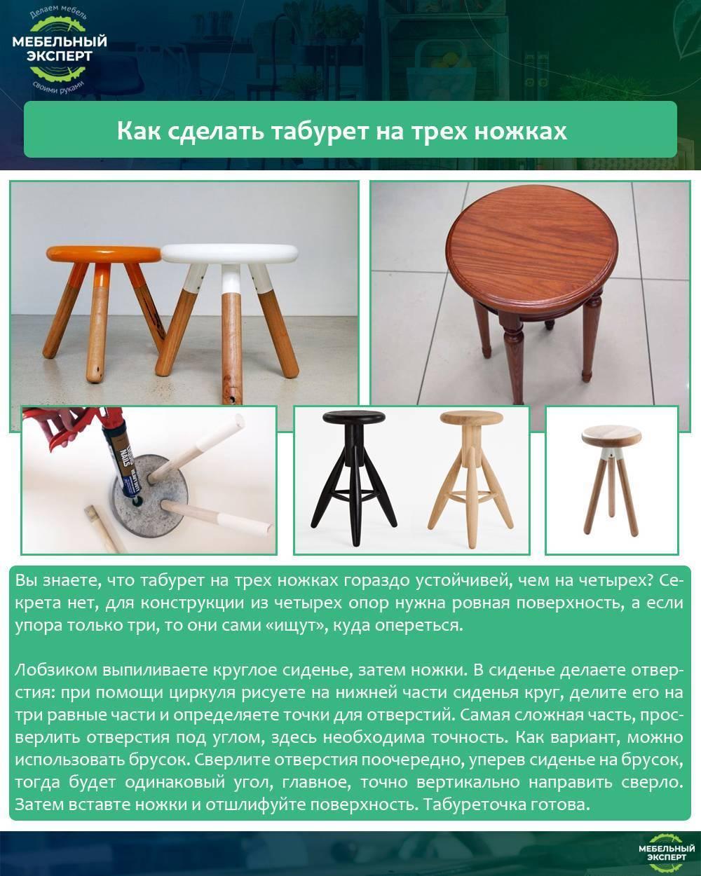 Чертеж табурета-стремянки своими руками позволит сделать из дерева удобную мебель, которой можно пользоваться в качестве лестницы самому и друзьям
