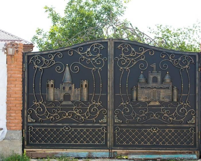 Ворота для частного дома: фото, образцы