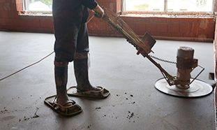 Механизированная полусухая стяжка пола: технология, оборудование