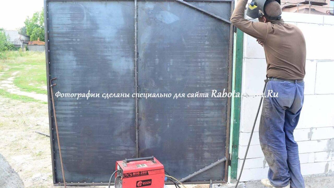 Засов на ворота своими руками: руководство с фото