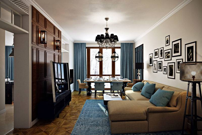 Дизайн интерьера гостиной с двумя окнами: 100 фото стильных идей