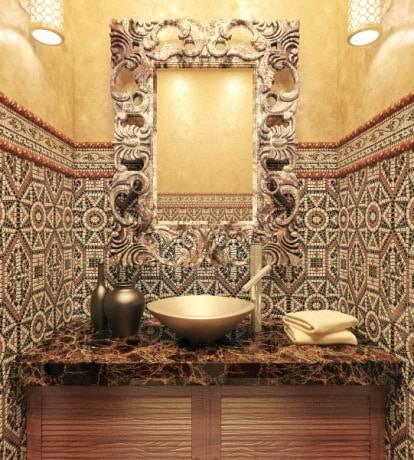 Ванная комната в стиле прованс, 100+ фото