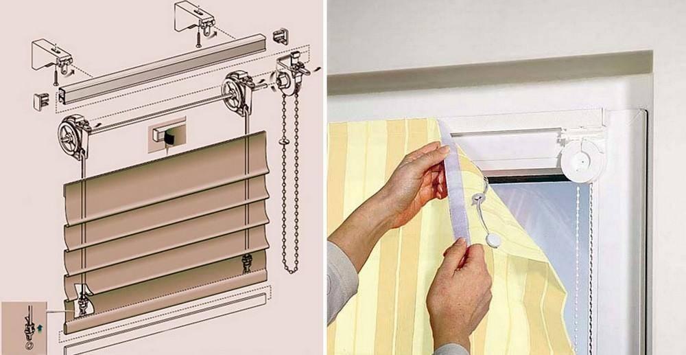 Как крепить римские шторы к окну, стене или потолку? виды механизмов и конструкций