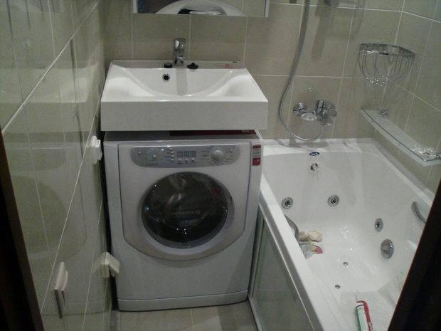 Раковина над стиральной машиной: 65 фото-идей