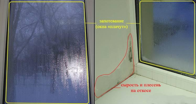 Почему пластиковые окна потеют изнутри: что делать и как устранить причины конденсата