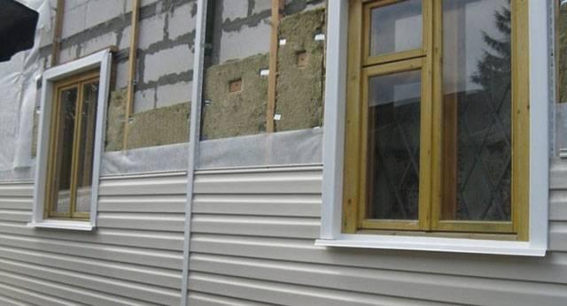 Обшивка дома сайдингом с утеплителем своими руками
