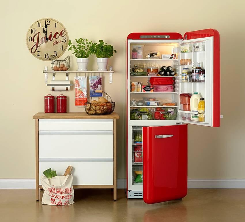 Размеры встроенного холодильника и шкафов для него: стандартные, узкие, большие