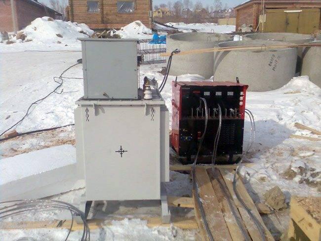 Схемы и способы подключения сварочного аппарата для прогрева бетона
