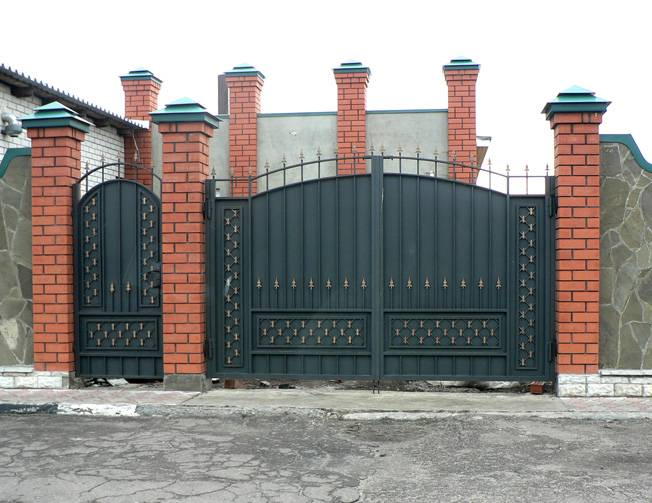 Ворота из профлиста своими руками: фото + видео