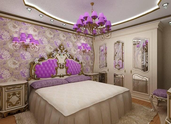 Спальня в стиле барокко (49 фото): дизайн интерьера и ремонт в комнате