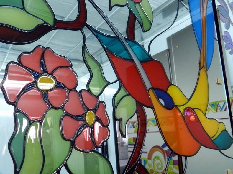Рисунок на стекле, как выполняется - фото примеров