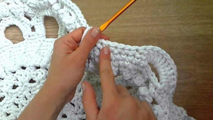 Ковры из шнура крючком: схемы вязания, популярные узоры и особенности изделий