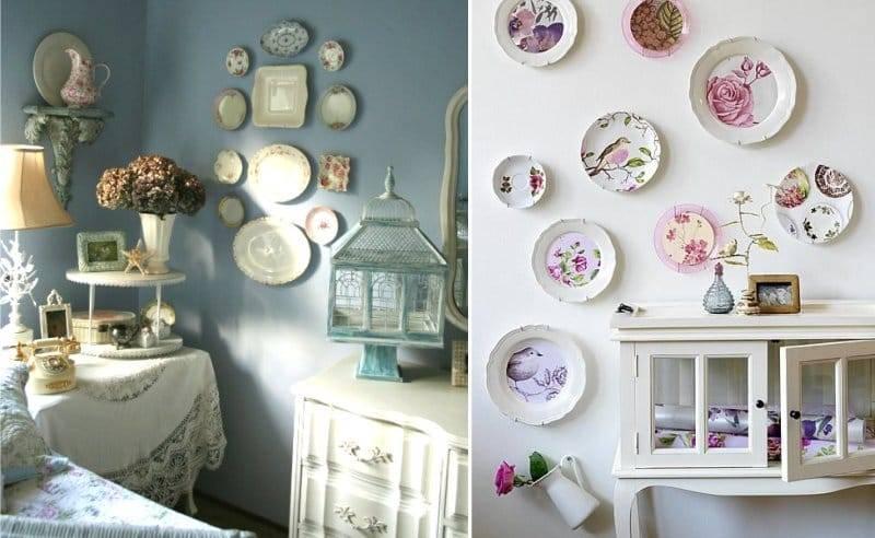 Декоративные тарелки на стену: роспись своими руками в стиле прованс и хохлома