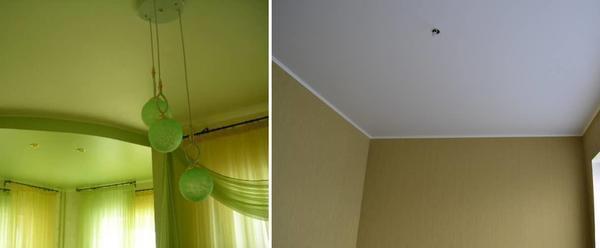 Отличия матовых, глянцевых или сатиновых потолков