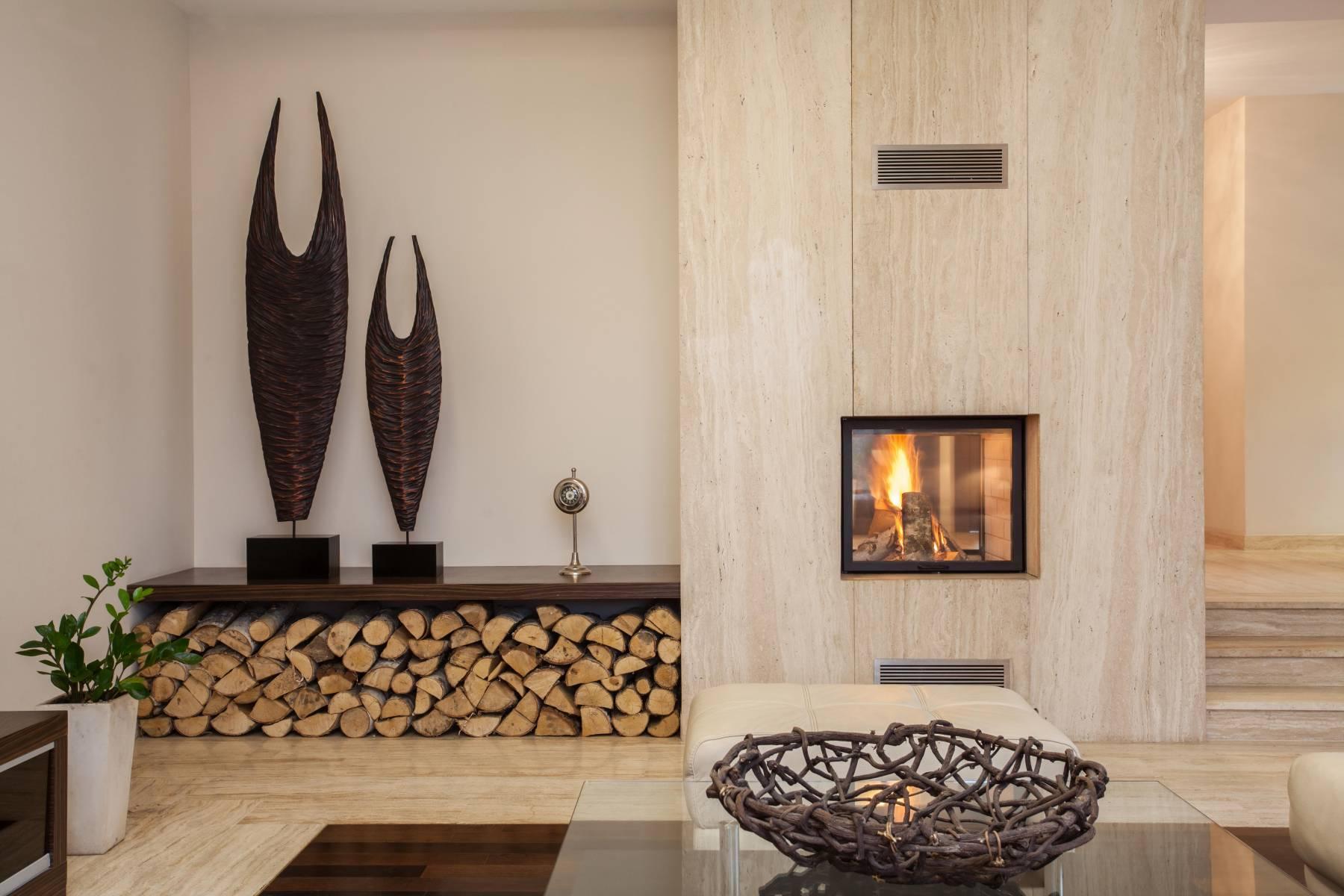Двухсторонний камин в интерьере — дом и сад