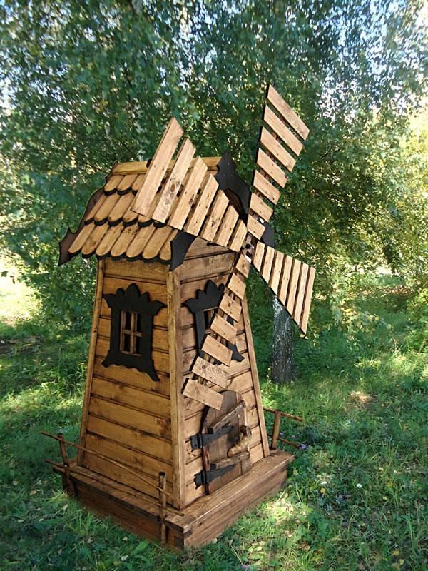 Декоративная мельница для сада своими руками: пошаговая инструкция, фото чертежей и мастер-классы - огород, сад, балкон - медиаплатформа миртесен