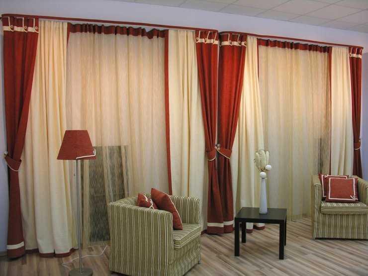 Комбинированные шторы: отличный способ разнообразить дизайн помещения