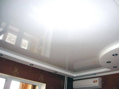 Бесшовные натяжные потолки: максимальная ширина и размеры потолков без шва, особенности матовых покрытий, немецкие и французские изделия