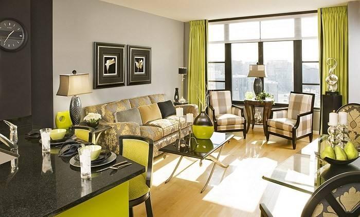 Сочетание зелёного цвета в интерьере | home-ideas.ru