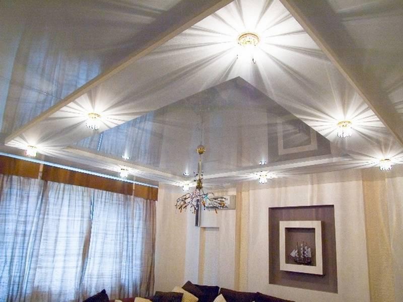 Как расположить точечные светильники на потолке правильно