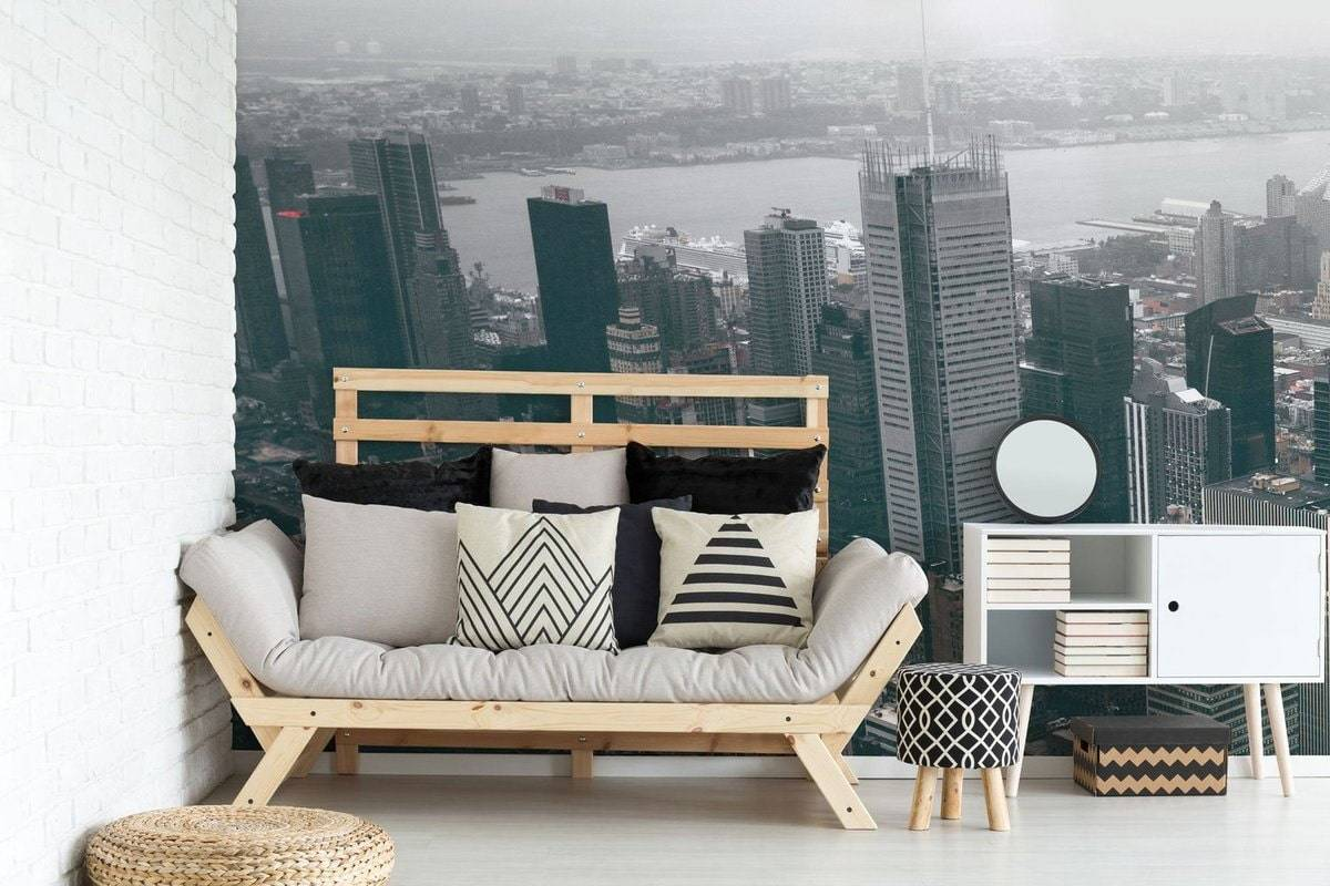 Обои в гостиную - 150+ (фото) интерьеров & современных идей